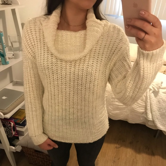 35ae827a01683c 525 America Sweaters | Wool Blend Chunky Knit Turtle Neck Sweater ...